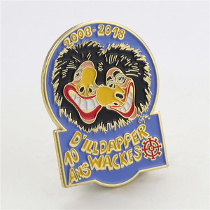 Custom Soft Enamel Carnival Clown Metal Lapel Pin Badge