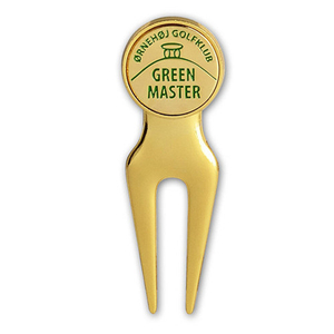 Customized Gold Plated Metal Golf Divot Tool Accessory