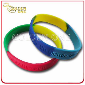 2015 Newest Style Colorful Customized Deep Stamped Silicone Wristband