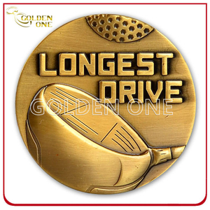 Promotion Custom Antique Gold 3D Challenge Metal Coin