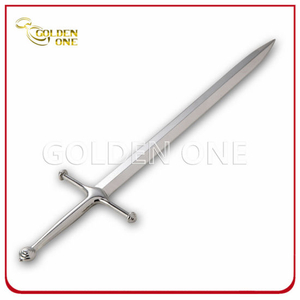 Fashion Silver Plated Sword Shape Metal Letter Opener