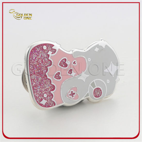 Fancy Design Cheap Hard Enamel Glitter Lapel Pin