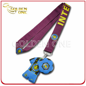 Heat Transfer Printing Lanyard Strap with Custom PVC Charms