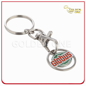 Personlized Custom Metal Stamped Soft Enamel Trolley Coin Keychain