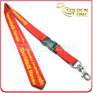 Custom Silk Screen Printed Polyester Lanyard with Plastic Release Buckle