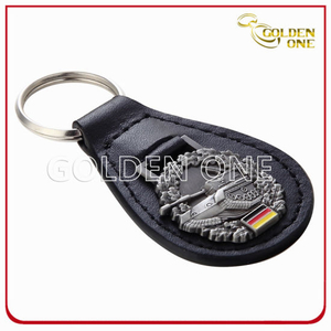 Special Design Promotion Oval Shape Leather Key Holder