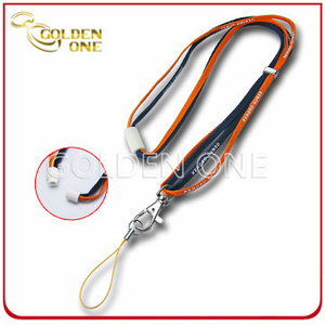 Custom Printed Nylon Tube Lanyard with Plastic Breakaway Buckle
