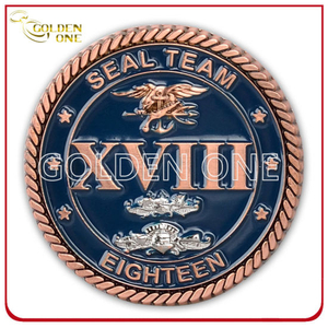 Custom High Quality Copper Plated 3D Army Coin