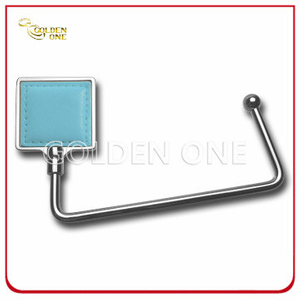 Promotional Gift Nickel Plated Square Design Metal Bag Holder