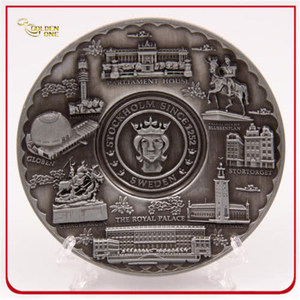 Custom High 3D Antique Silver Metal Plate
