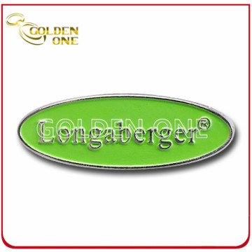 Customized Antique Color Fill 3D Logo Metal Badge