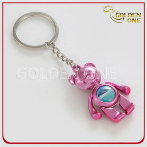 Custom Wholesale Lovely&Colorful Bear Metal Keyring