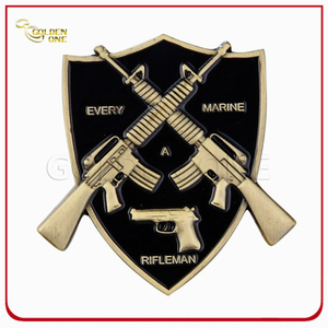 3D Shield Custom Army Coin for Souvenir