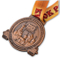 Shiny Style Die Casting Two Tone Finish Souvenir Medal