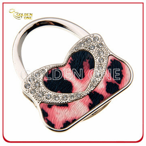 Novelty Design Handbag Shape Metal Folding Bag Hook