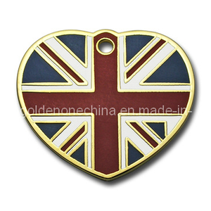 Custom Heart Soft Enamel Pet Tag (DT02)