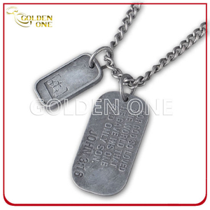 Factory Supply Antique Finish Double Metal Dog Tag