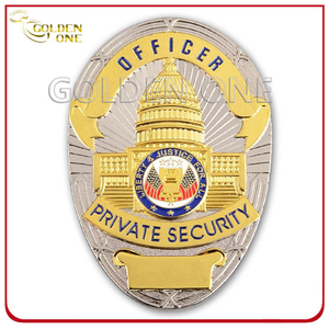 Custom Two Tone Finish Military U. S Government Metal Badge