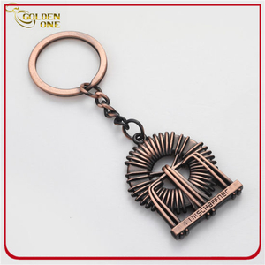 Promotional Gift 3D Engraved Anqitue Metal Keychain