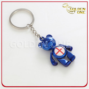 Lovely & Colorful Cuctom Bear Metal Keychain