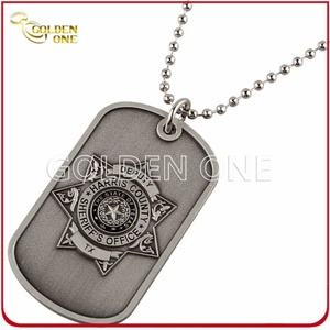 Unique Design Zinc Alloy Antique Sliver Finish Dog Tag
