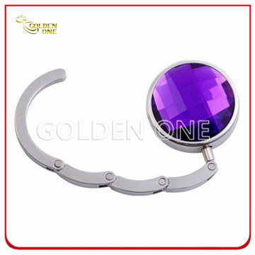 Factory Supply Folding Round Shape Crystal Purse Holder