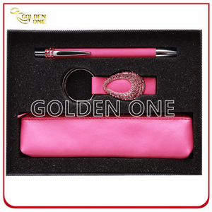 Lady′s Gift Keychain and Metal Pen Promotional Gift Set