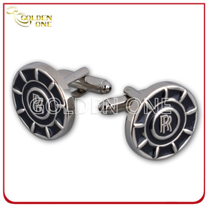 Fashion Style Debossed Soft Enamel Metal Cufflink