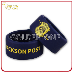 Custom Police Symbolize Logo Silk Screen Printing Silicone Finger Ring