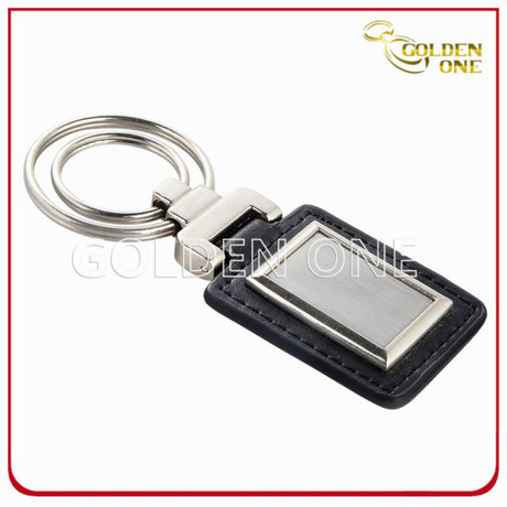 Hot Sale Good Quality Rectangle PU Leather Keyring
