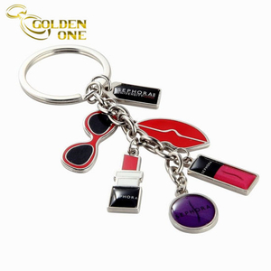 Promotion Gift Customized Logo Metal Enamel Charm Keychain