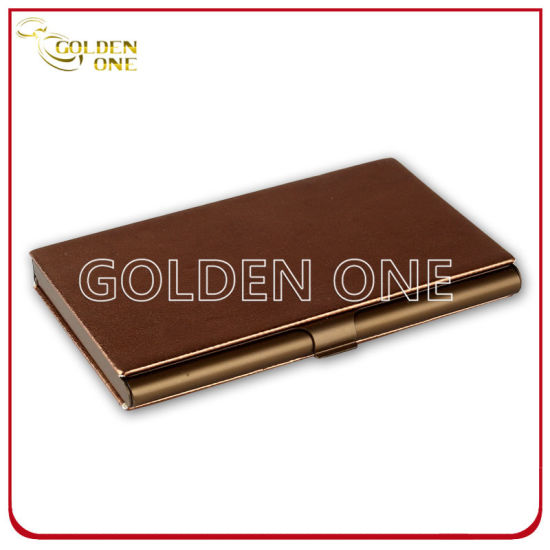 Shiny Design Business Metal & Leather Name Cardcase