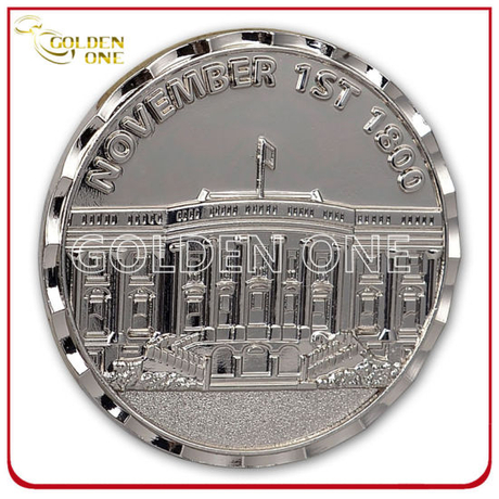 Customized Style Shiny Nickel Finish Metal Commemorative Coin