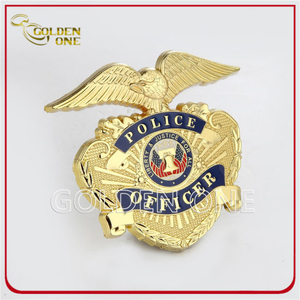 Gold Plated Police Badges Army Badges with High Quality
