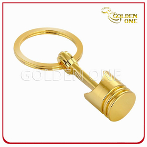 Hot Sale Best Quality Gold Plated Piston Metal Keyring