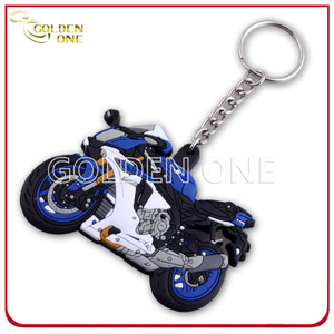 Hot Selling Inject Color Motorcycle PVC Keychain