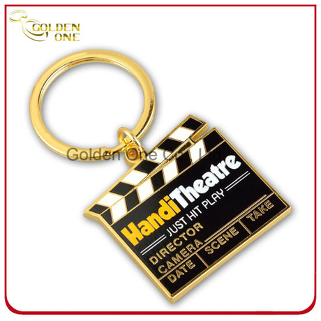 Custom Printed Movie Clapperboard Metal Keyring