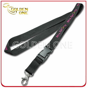 Best Offer Custom Printed Nylon Lanyard with Plastic Safety Buckle