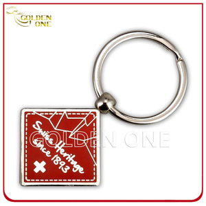 Personalized Hard Enamel Zinc Alloy Metal Keychain for Souvenir