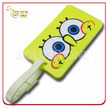 Customized 3D Embossed Soft PVC Label Luggage Tag
