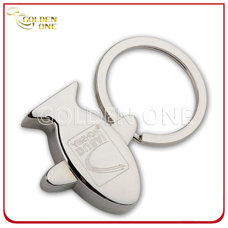 Custom Engraving Logo Aircraft Zinc Alloy Metal Keyring