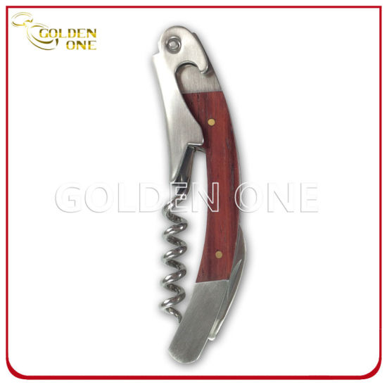 Custom Printed Brushed Finish Stainless Steel Wine Corkscrew