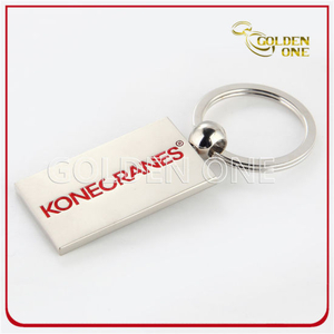 Customized Soft Enamel Pearl Plated Metal Key Ring