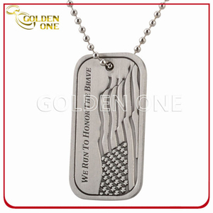 Custom Design Die Casting Zinc Alloy Antique Finish Dog Tag