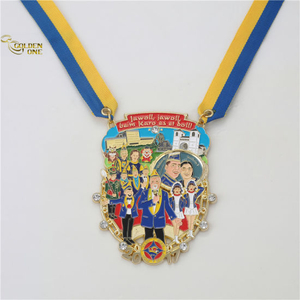 Customized Unique Design Soft Enamel Metal Medallion