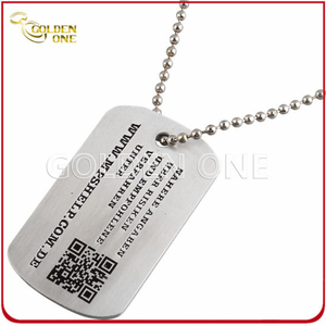 Personalized Metal ID Tag with Printed Qr Code