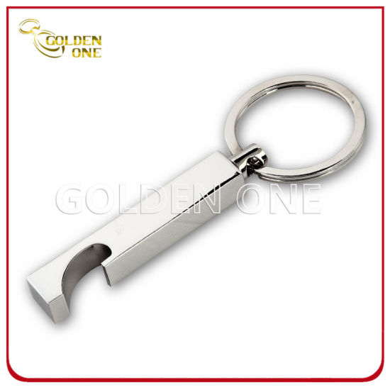 Fashion Design Chrome Plated Metal Bottle Opener Key Ring