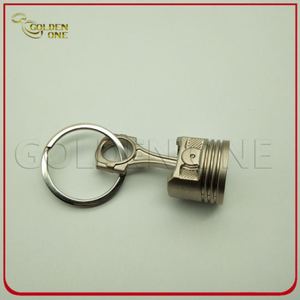 Factory Cheap Price Custom Metal Piston Keychain