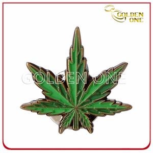 Creative Leaf Shape Soft Enamel Gold Plated Pin