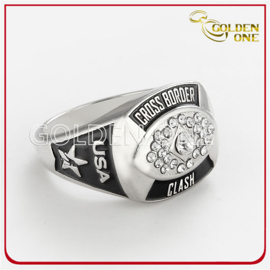 Promotion Gift Custom Creative Jewelry Super Bowl Sport Team Cheering Friendship Championship Metal Champion Ring